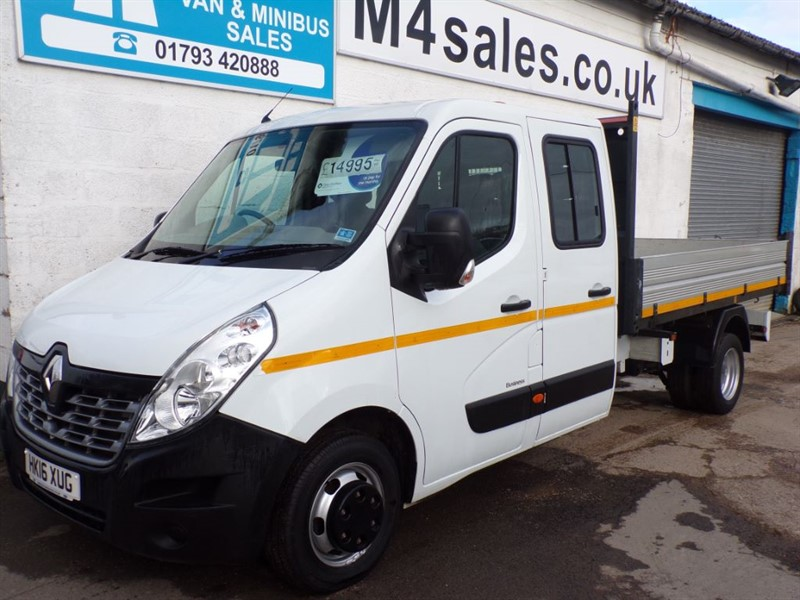 used Renault Master LL35 BUSINESS DCI CREWVAN TIPPER 125PS in wiltshire