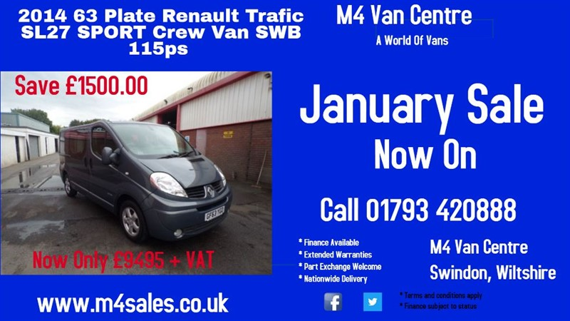 used Renault Trafic SL27 SPORT DCI L/R SWB A/C 115PS in wiltshire