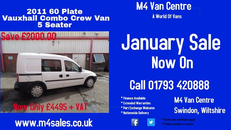 used Vauxhall Combo CREW CDTI in wiltshire
