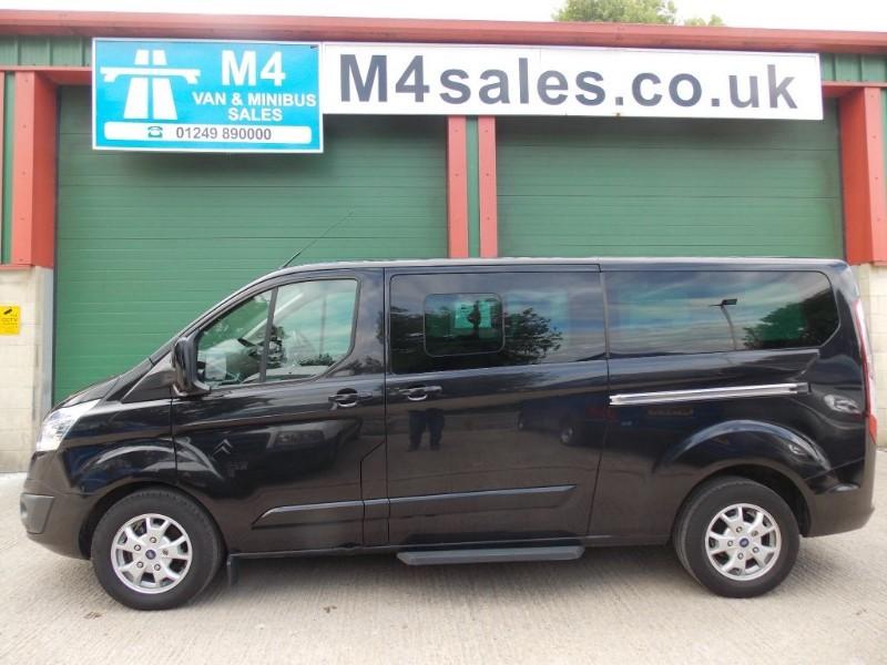 used Ford Tourneo Custom 9st lwb Ltd model minibus,full a/c. in wiltshire