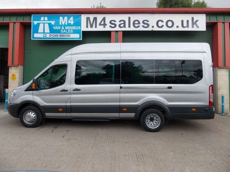 used Ford Transit 125ps,17st trend minibus,tacho,full A/C,Silver in wiltshire