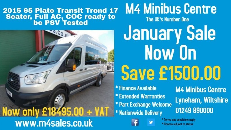 used Ford Transit 125ps,17 seat trend minibus,Full A/con in wiltshire