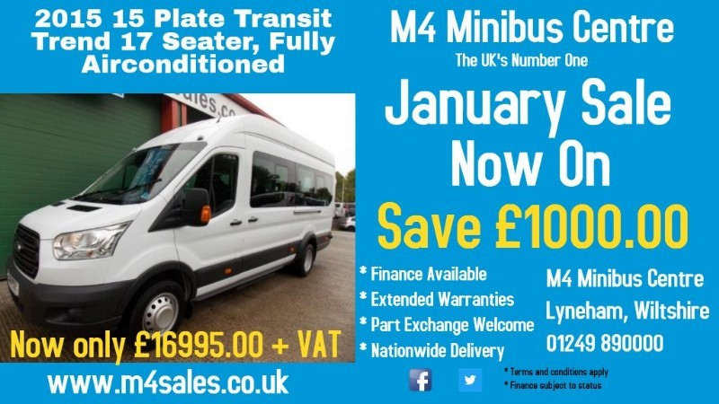 used Ford Transit 125ps,17 seat minibus,tacho in wiltshire