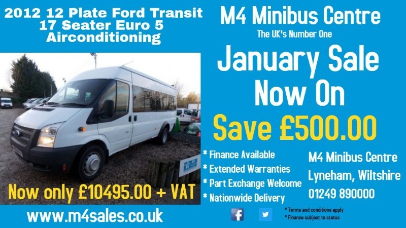 used Ford Transit 135ps,17 seat minibus,a/con,tacho in wiltshire