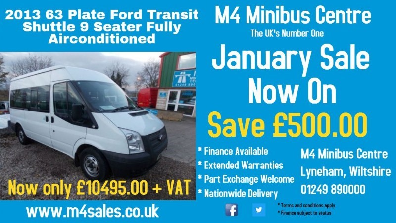 used Ford Transit 9 seat shuttle minibus with full a/c in wiltshire