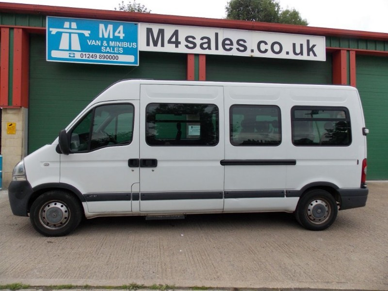 used Renault Master 120ps,16 seat minibus,full A/con in wiltshire