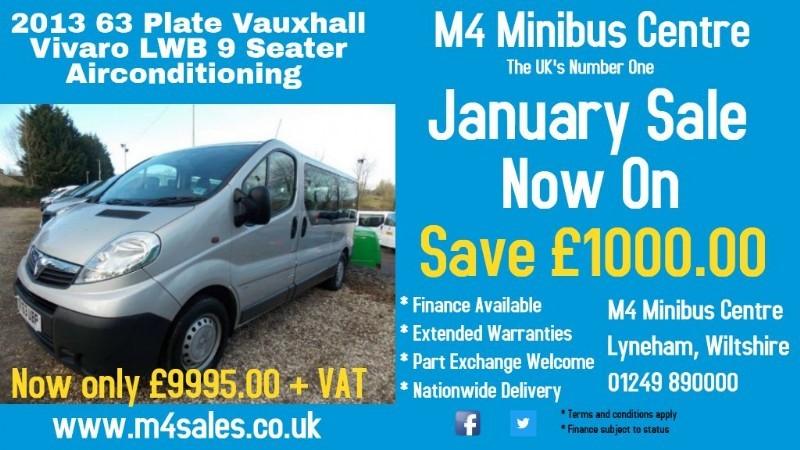 used Vauxhall Vivaro 9 seat lwb minibus, a/con in wiltshire