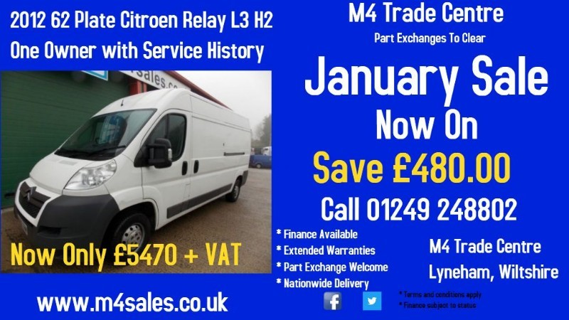 used Citroen Relay 35 L3H2 HDI LWB in wiltshire