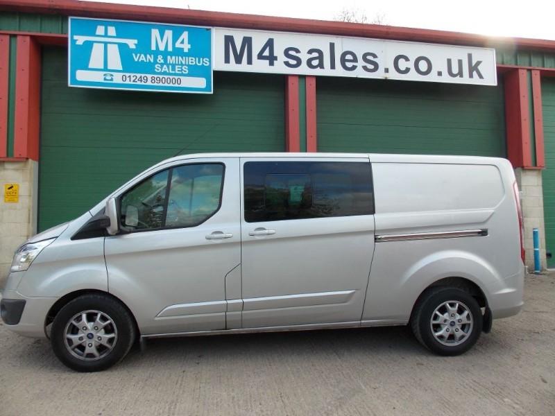 used Ford Transit Custom 125ps L2 6 Seater Lwb Ltd Custom Crew Van  in wiltshire