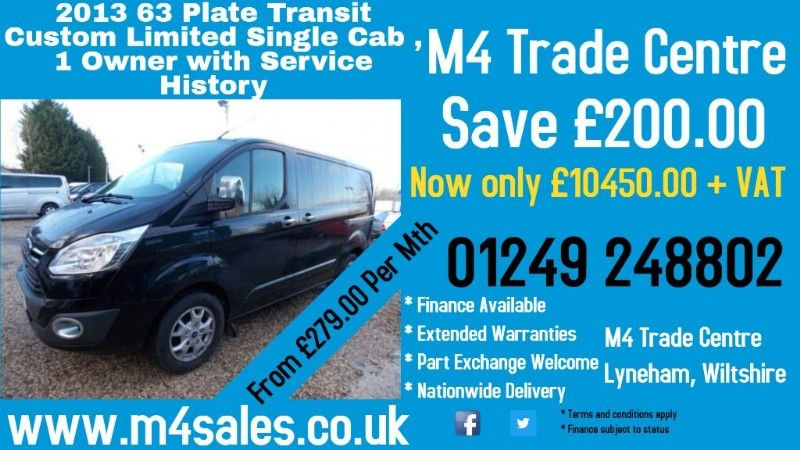 used Ford Transit Custom 310 LIMITED L1 SWB 155PS in wiltshire