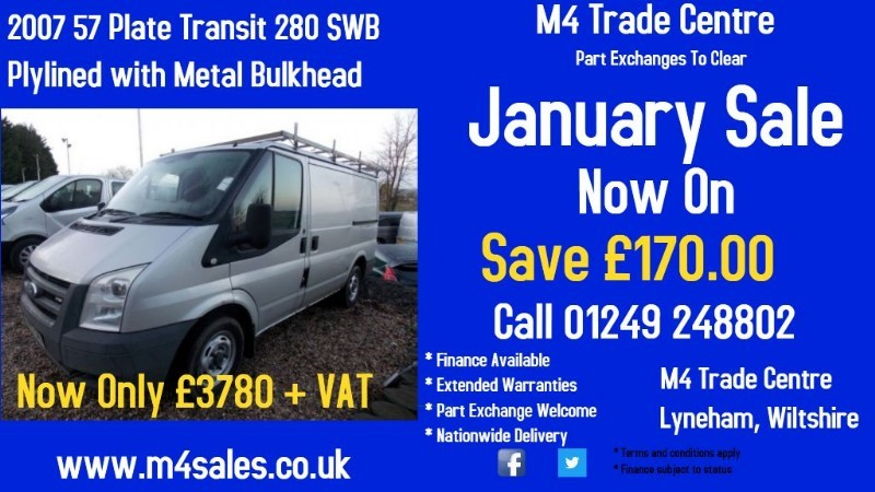 used Ford Transit 280 SWB LR in wiltshire