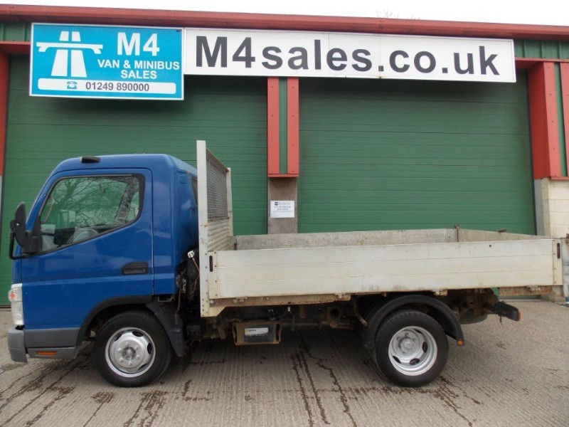 used Mitsubishi Canter 35 SWB TD Tipper new tipper body being fitted in wiltshire