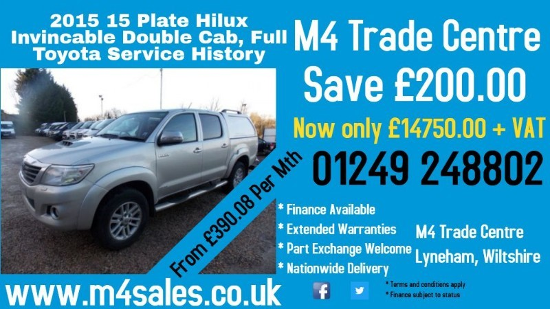 used Toyota Hilux Invincible double cab 4x4 in wiltshire