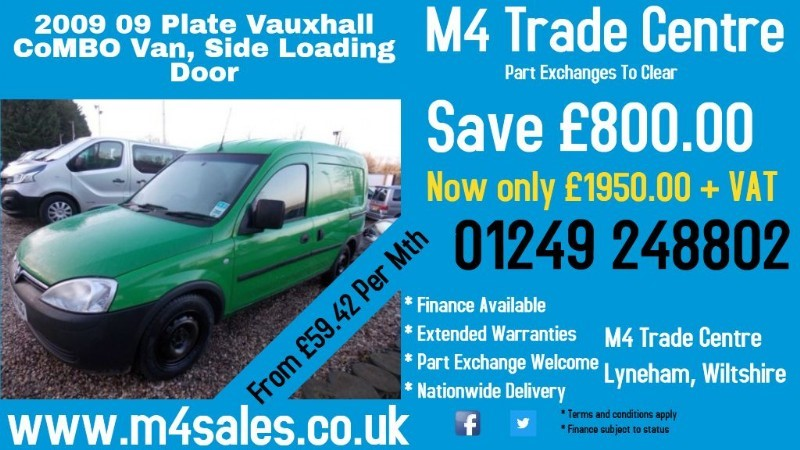 used Vauxhall Combo 1700 CDTI A/C in wiltshire