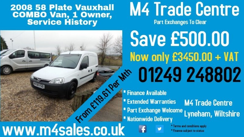 used Vauxhall Combo 2000 CDTI in wiltshire