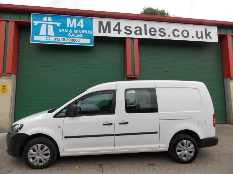 used VW Caddy Maxi 102ps,factory 5st van.No Vat in wiltshire
