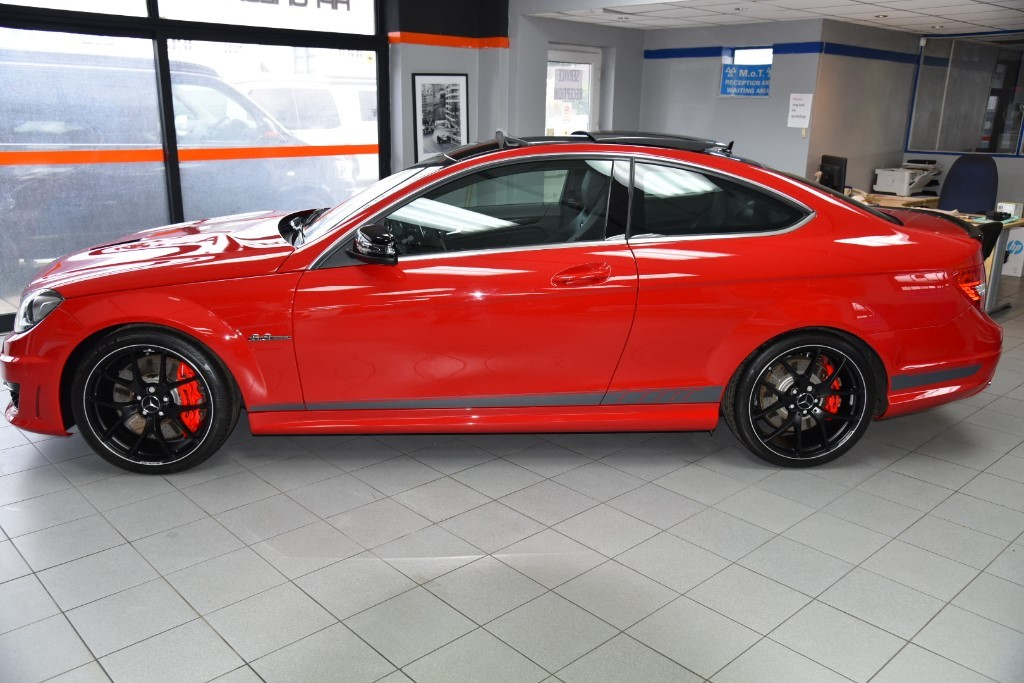 Used fire opal red mercedes c63 for sale surrey for Mercedes benz c63 amg 507 edition for sale