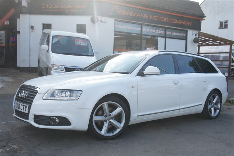used Audi A6 Avant AVANT TDI E S LINE SATNAV + 6 SPEED + FSH + PRIVACY GLASS + SPORTS SEATS in new-haw-surrey