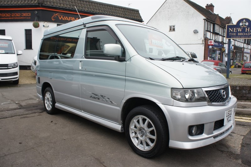 used Mazda Bongo 4 BERTH 6 SEATER + SIDE CONVERSION + FACTORY AUTO FREE TOP IMMACULATE in new-haw-surrey
