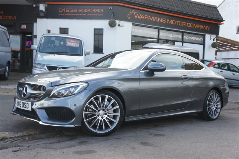 used Mercedes C250 AMG LINE PREMIUM PLUS COUPE MERCEDES BENZ FULLY LOADED NAV CAMERA PAN ROOF HEATED SEATS FMBSH in new-haw-surrey