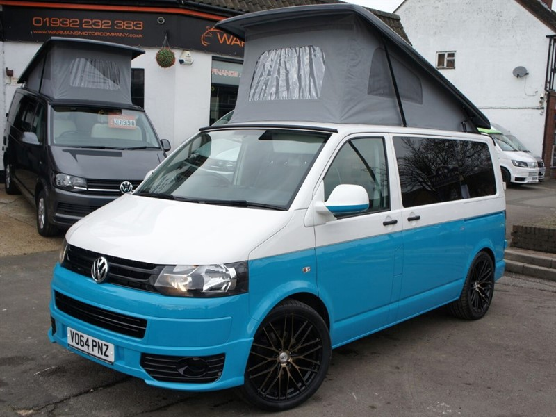 used VW Camper VW T6 t5 T28 TDI 102BHP 4 B JUST 27K TWO TONE PAINT in new-haw-surrey