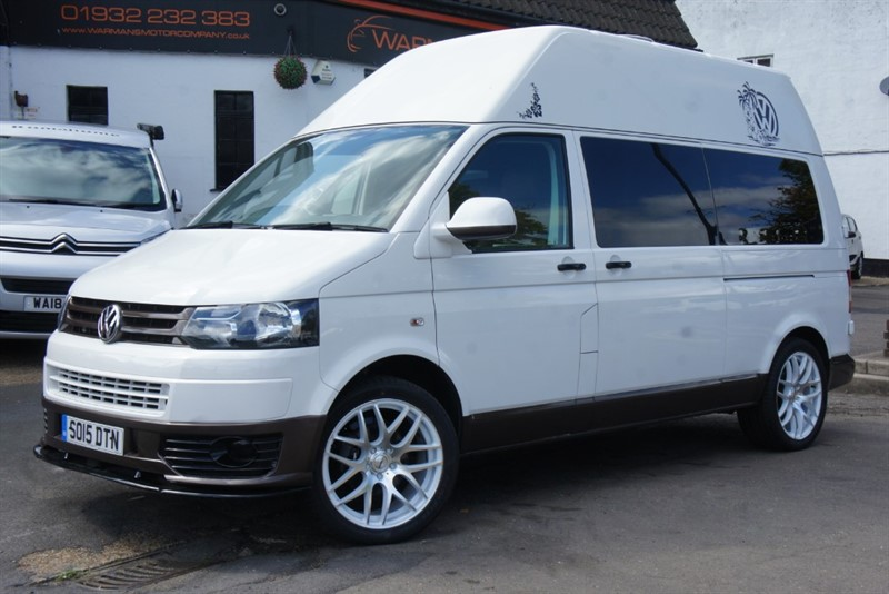 used VW Camper T6 T5 102BHP HIGH TOP LWB CAMPERVAN MOTORHOME in new-haw-surrey