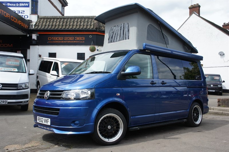 used VW Camper TDI T28 4 BERTH POP-TOP CAPTAIN SEATS CAMPERVAN in new-haw-surrey