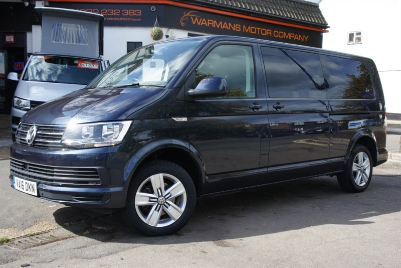 used VW Transporter SHUTTLE SE BMT LWB T32 150BHP TDI 6 SEATER 9 SEATER KOMBI SEATS IMMACULATE VAT Q in new-haw-surrey