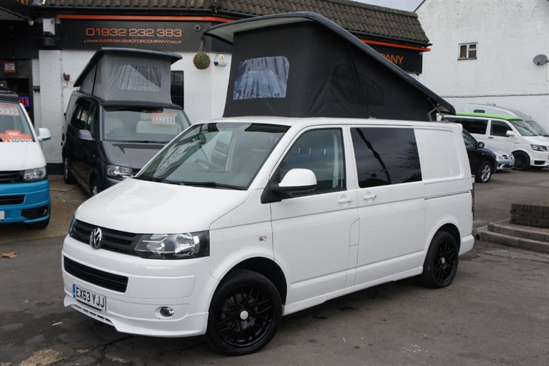 used VW Transporter T6 t5 4 BERTH T28 TDI HIGHLINE RIB BED 5 SEATER in new-haw-surrey