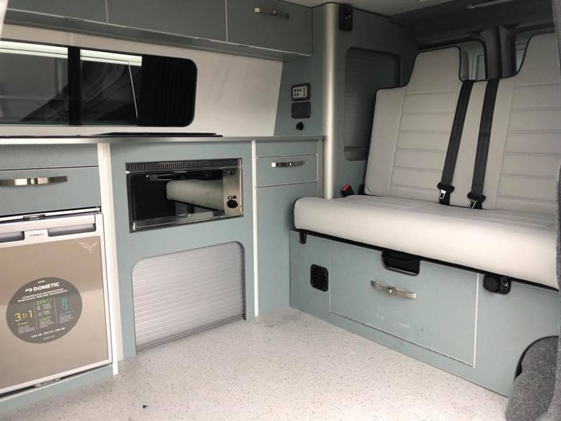 used VW Transporter NEW CONVERSION VW CAMPERVAN 4 BERTH POP TOP STUNNING CAMPER T5 T6 MODELS IN STOCK in new-haw-surrey