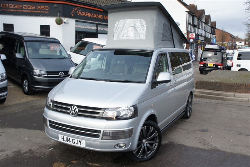 used VW Camper T6 T5 T28 TDI 102BHP HIGHLINE Campervan Motorhome 4 Berth Immaculate in new-haw-surrey