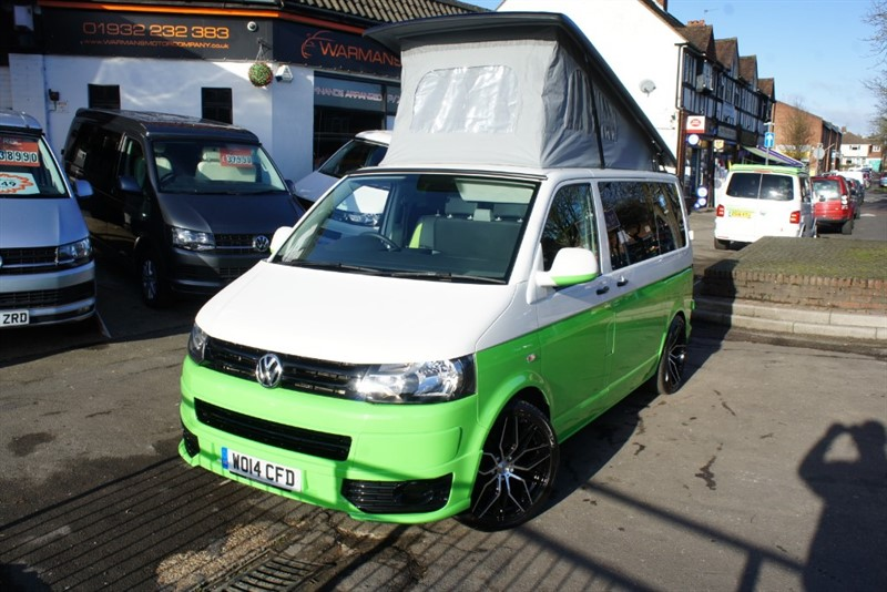 used VW Transporter VW T5 T30 TDI SWB 4 BERTH NEW CONVERSION IMMACULATE +LEATHER+PROPEX HEATER in new-haw-surrey