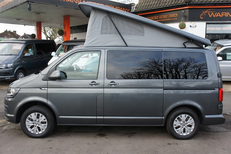 used VW Camper VW T6 t5 T28 TDI 102BHP 4 BERTH NEW CONVERSION in new-haw-surrey