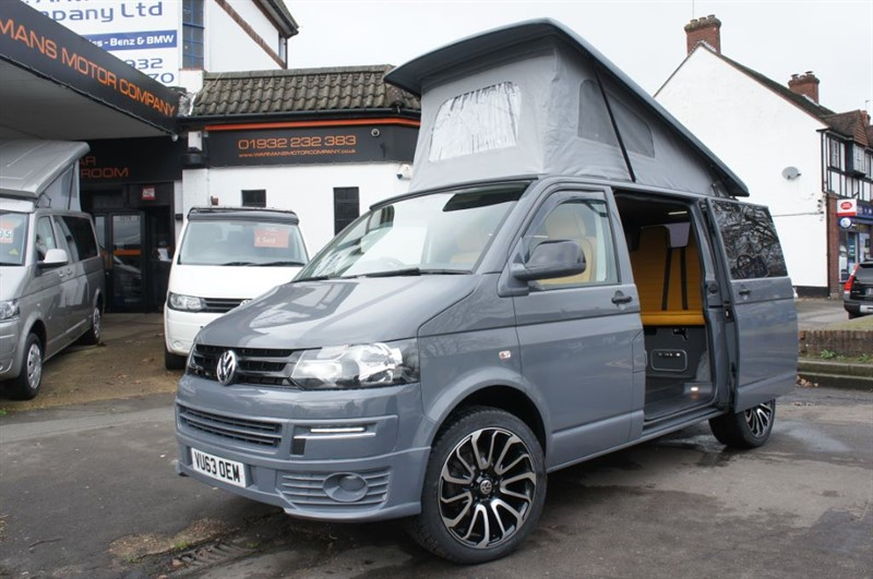 used VW Transporter T5 4 Berth Campervan New Conversion GAS HEATER T30 TDI LOW RATE FINANCE in new-haw-surrey