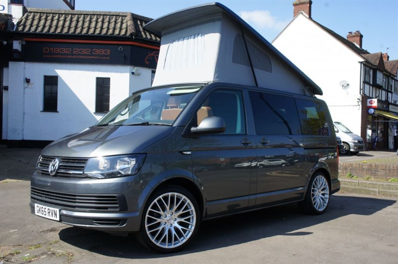 used VW Transporter T28 TDI 4 BERTH CAMPERVAN NEW CONVERSION T6 102BHP  in new-haw-surrey