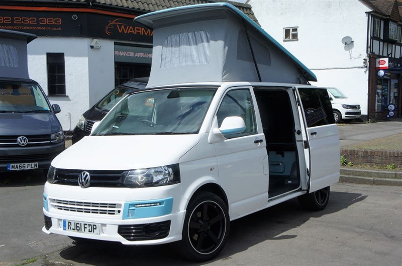 used VW Transporter T28 TDI 4 BERTH CAMPERVAN NEW CONVERSION T5 in new-haw-surrey