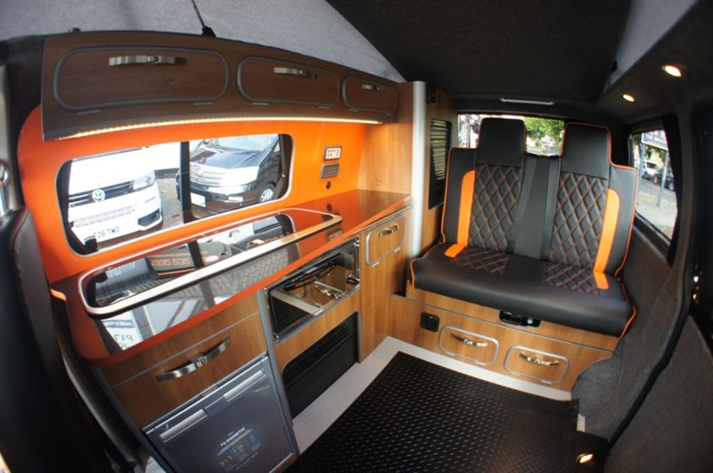 used VW Transporter SOLD 4 BERTH CAMPER T28 TDI NEW CONVERSION POP ROOF in new-haw-surrey