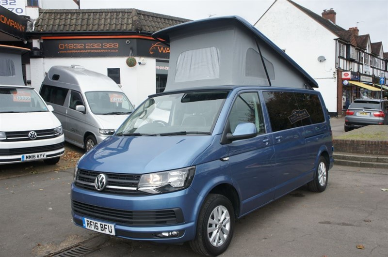 used VW Transporter LWB T30 TDI NEW CONVERSION 4 BERTH CAMPERVAN in new-haw-surrey