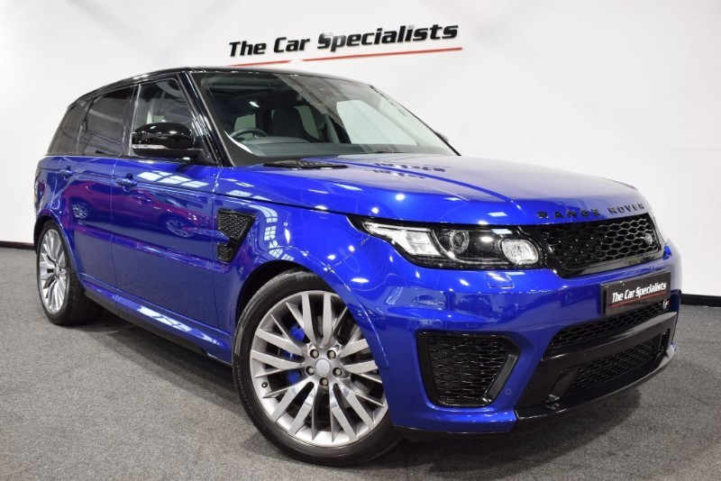 "used Land Rover Range Rover Sport 5.0 V8 SVR PANORAMIC ROOF 22"" ALLOY WHEELS MERIDIAN *SERVICE PACK* in sheffield"