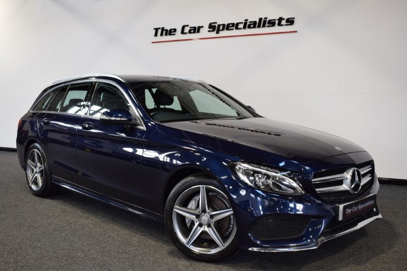 used Mercedes C220 2.1 BLUETEC AMG LINE SAT NAV R/CAMERA BLUETOOTH DAB E/H FRONT SEATS in sheffield