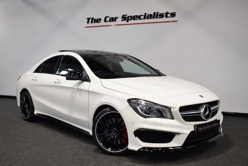 used Mercedes CLA45 AMG 2.0 4MATIC PAN ROOF COMAND SPORTS EXHAUST R/CAMERA in sheffield