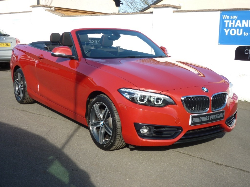 used BMW 218i SPORT [NAV] AUTO CONVERTIBLE WITH 2 YEARS FREE SERVICING* used cars in wirral-cheshire