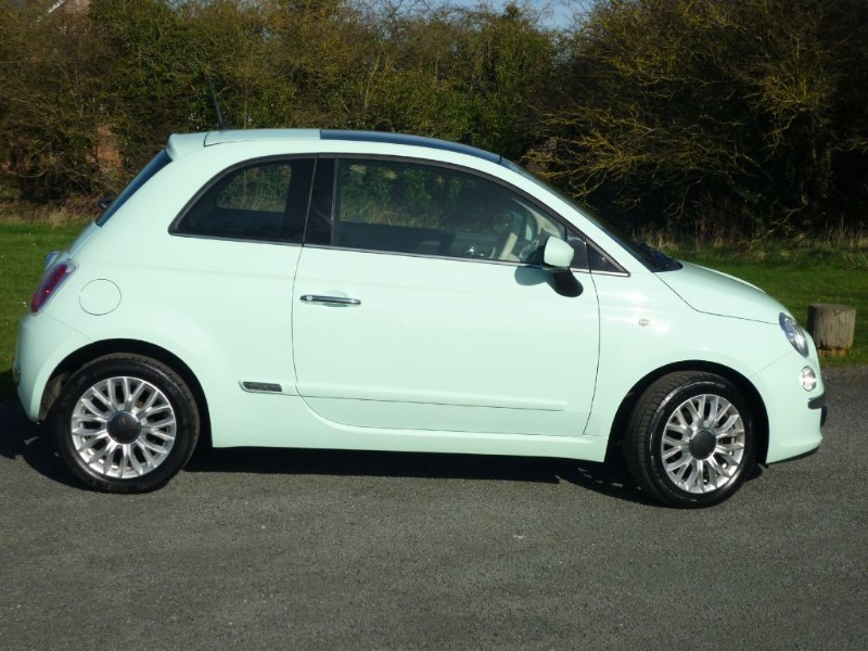 Used Smooth Mint Green Fiat 500 For Sale Cheshire