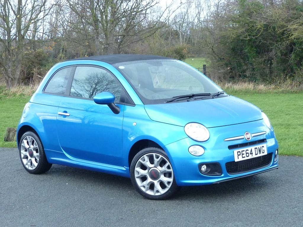 used Fiat 500C S DUALOGIC AUTO WITH 1 YEAR FREE AA MEMBERSHIP** in wirral-cheshire