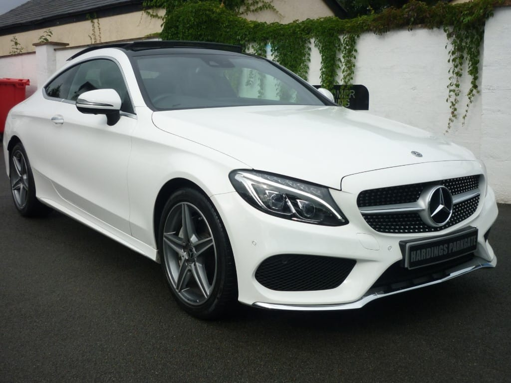 used Mercedes C200 C AMG LINE PREMIUM COUPE AUTO [S\ROOF] 2 YEARS FREE SERVICING* used cars in wirral-cheshire