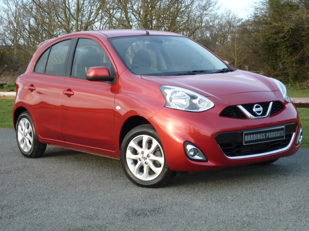 used Nissan Micra ACENTA 1.2 AUTO NAVIGATION WITH 2 YEARS FREE SERVICING* in wirral-cheshire