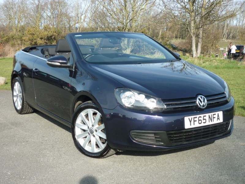 used VW Golf TDI Bluemotion Tech SE CONVERTIBLE DSG AUTO in wirral-cheshire