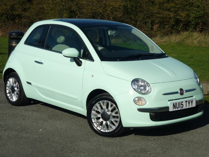 used Fiat 500 LOUNGE WITH 2 YEARS FREE SERVICING* in wirral-cheshire