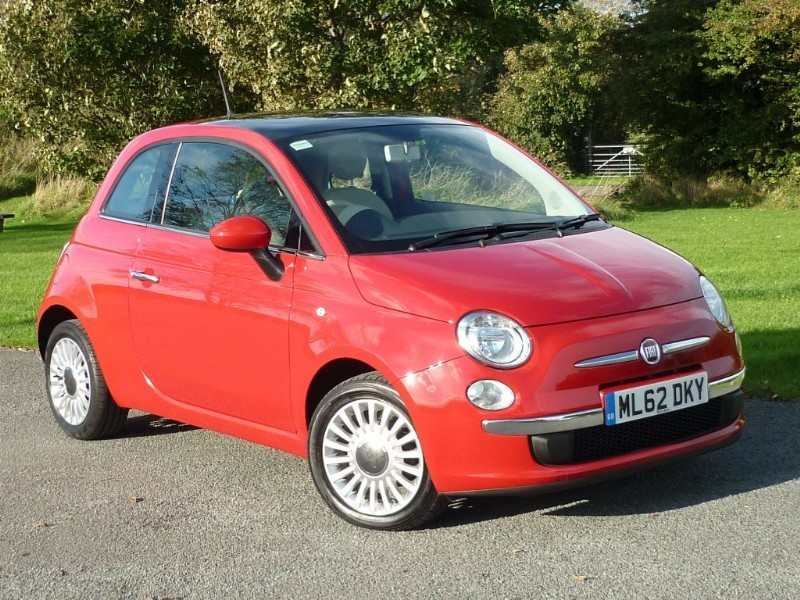 used Fiat 500 LOUNGE in wirral-cheshire