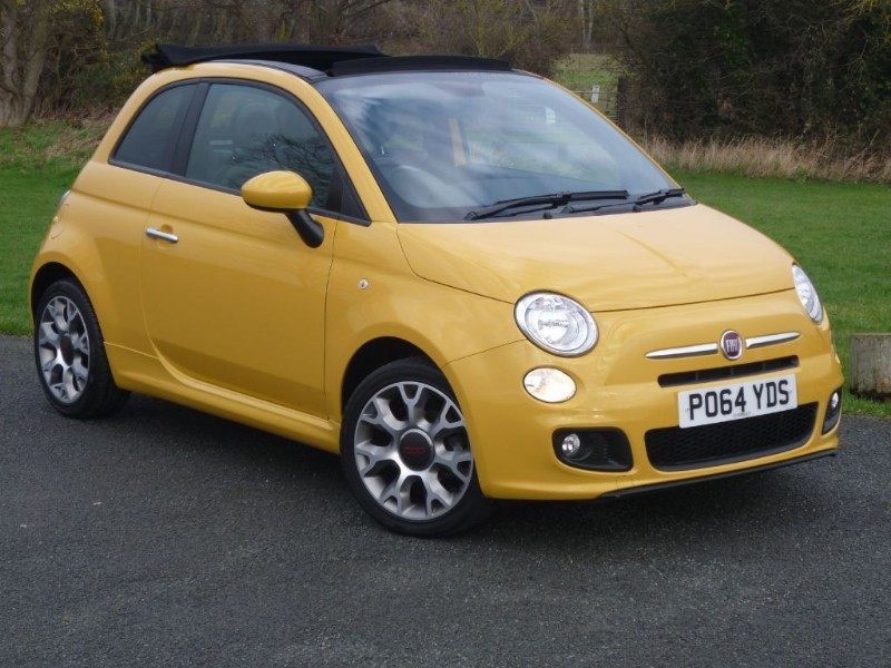 used Fiat 500C S CONVERTIBLE AUTO WITH 2 YEAR FREE SERVICING* in wirral-cheshire